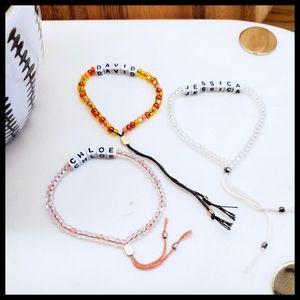 BLACK Thread- Made to Order- Pull String Bracelet